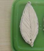 Salt dough leaf