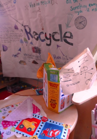 Recycling banner made for One Manchester Housing association to raise awareness of recycling methods.