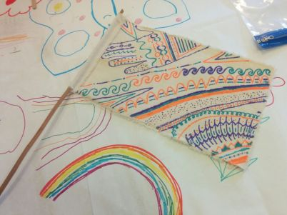 Flag Making - Heaton Arts Festival