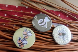 Party in the park, Phillips Park - Bee badges and flags