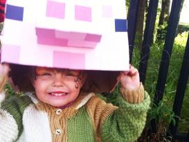 Minecraft pig mask