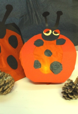 Ladybird lanterns - Made in LGBT proud2b Parents monthly activity group.